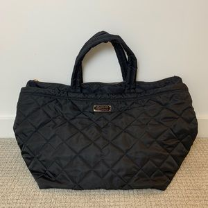 Marc by Marc Jacobs Black Nylon Large Quilted Tote